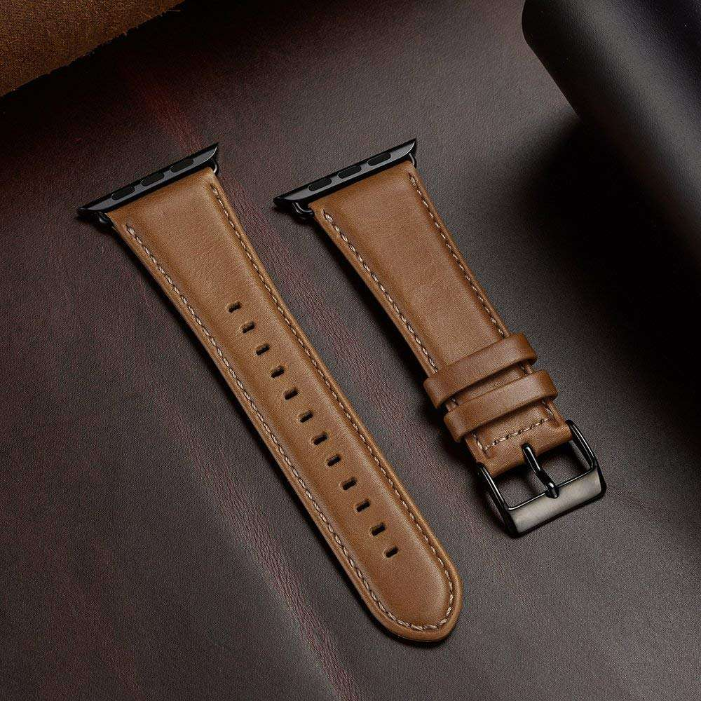 38mm 42mm for apple watch series 1 2 3 4 Genuine Leather Watch Band Strap