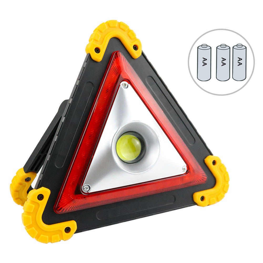 Portable Waterproof Triangle Road Hazard Traffic Warning Light For Car Safety