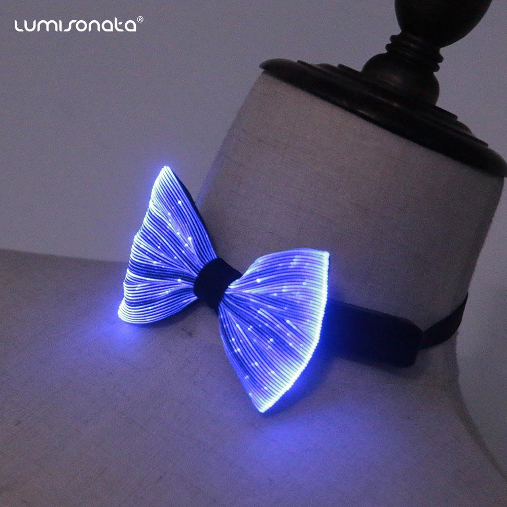 Novelty Flashing Event In Dark Light up Party Glow LED Bow Tie