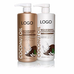 Wholesale OEM Virgin Coconut Oil Nourishing Hair Shampoo and Conditioner Set