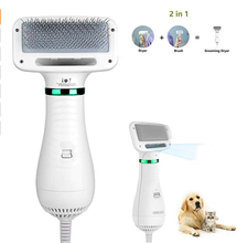 2020 New Design Amazon Hot selling 2 in 1 Dog &cat Grooming Dryer brush Pet Hair comb  brush dryer pet massage brush