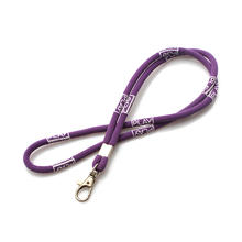 Woven polyester logo cheap custom rope neck lanyard
