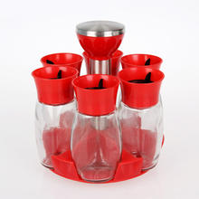 Wholesale clear revolving rotating carousel plastic seasoning spice bottle spice jar rack