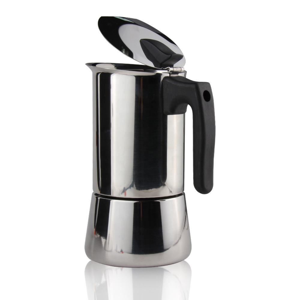 Eco-Friendly Stainless Steel Coffee Machine Professional Antique Stainless Steel Espresso Coffee Maker
