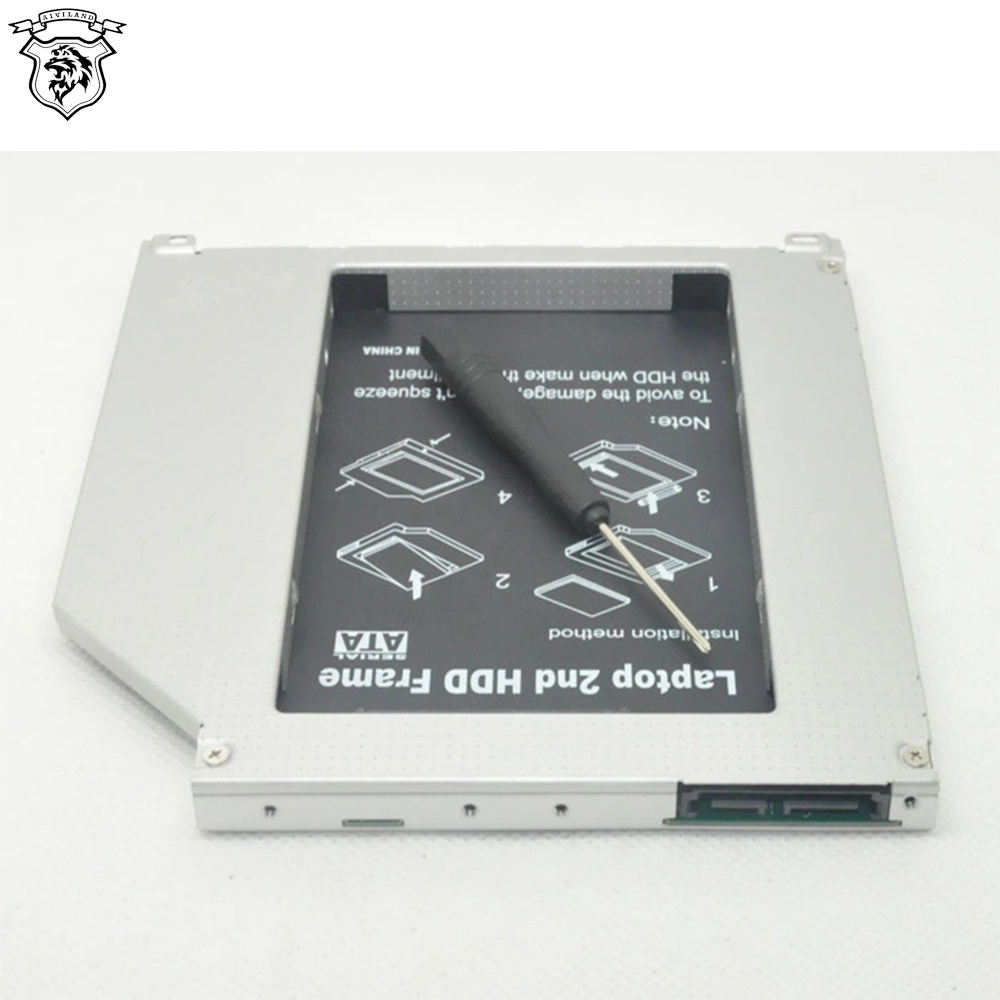 Universale SATA 3.0 2nd HDD Caddy 9.5 millimetri per 2.5