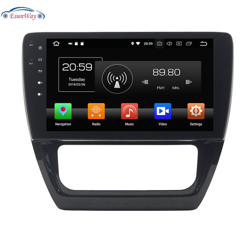 Android 7.1 Auto Radio Ouad Core 10.1 Inch 2DIN Car DVD player GPS Stereo Audio Head unit for VW Sagitar AT
