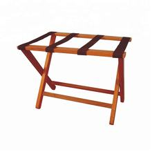 Yikai strong solid wood foldable luggage rack for hotels, custom size available