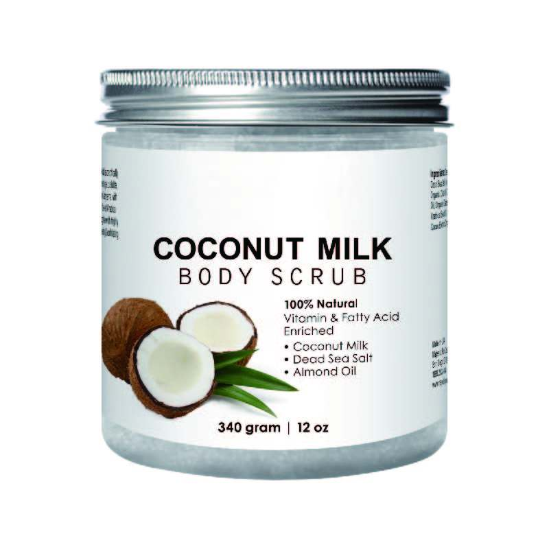 Natural Skin Care Formula Coconut Milk Body Scrub For Anti Cellulite & Exfoliator