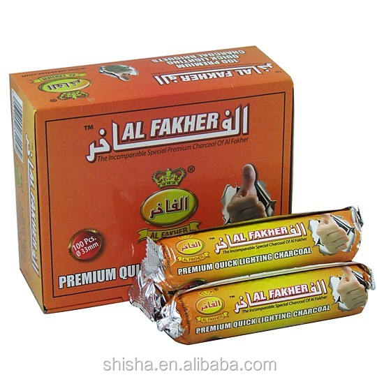 Hot Sale Al Fakher Charcoal Quick Light Wholesale Hookah Shisha Charcoal