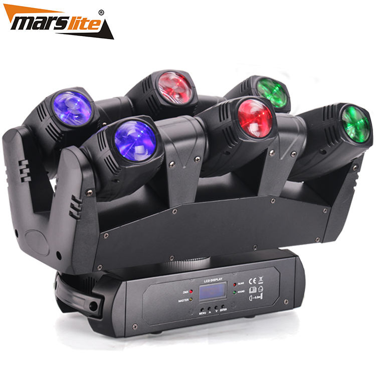 Factory sale 6*10w Dj event stage moving head sharp dj light led spider beam moving head light