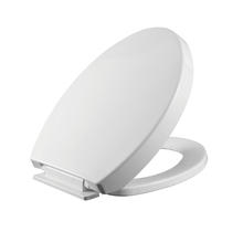 Padded toilet seat with soft close toilet seat hinges