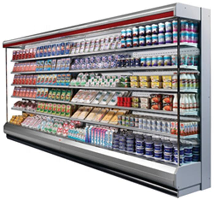 New design commercial produce display refrigerated cabinet supermarket vertical showcase refrigerators