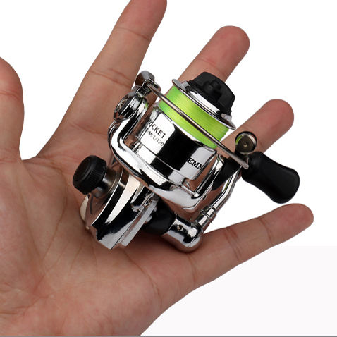 HOT Mini100 Pocket Spinning Fishing Reel Alloy Fishing Tackle Small Spinning Reel 4.3:1 Metal wheel Small Reel