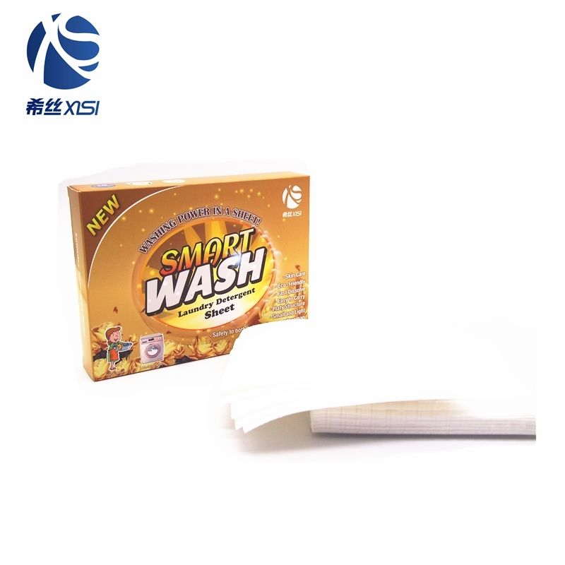Guangzhou factory bulk clean laundry detergent paper sheets