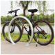 Custom semicircle carbon and stainless steel bike parking rack and bike frame