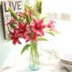 hot sale top quality decorative artificial lily flower