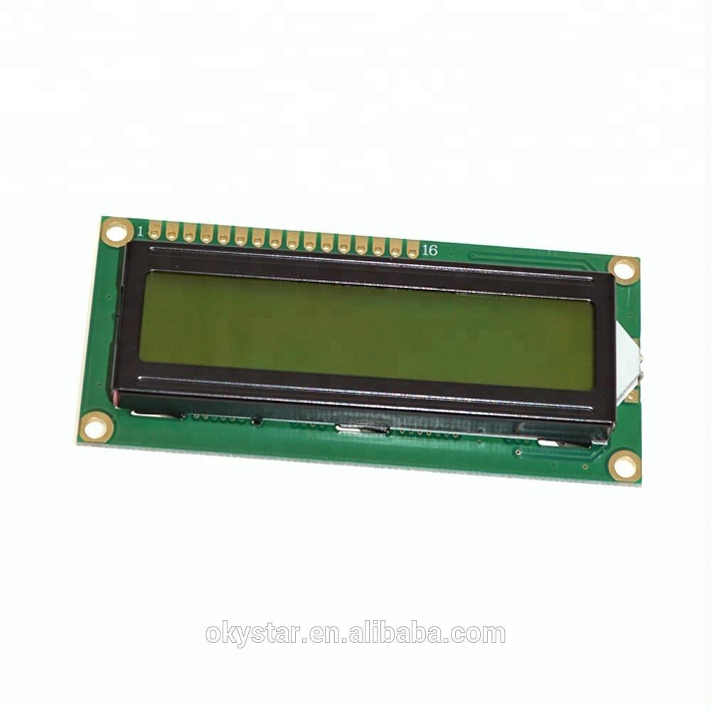 OEM/ODM 16x2 HD44780 Controlador 1602 LCD Módulo Amarelo Verde Backlight Display LCD