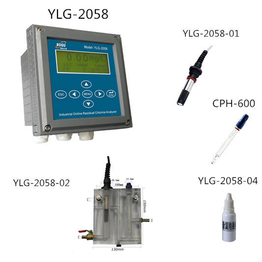YLG-2058 ph and chlorine tester