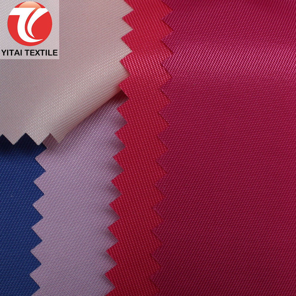 waterproof or water resistant 100 % 100% polyester 230t 272t taffeta twill fabric with pu pvc coated for lining