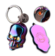 Windproof Rechargeable Fashion Skull Electronic USB Lighter With Key Ring For Cigar Cigarette Smoking Gadget Gift Box For Men