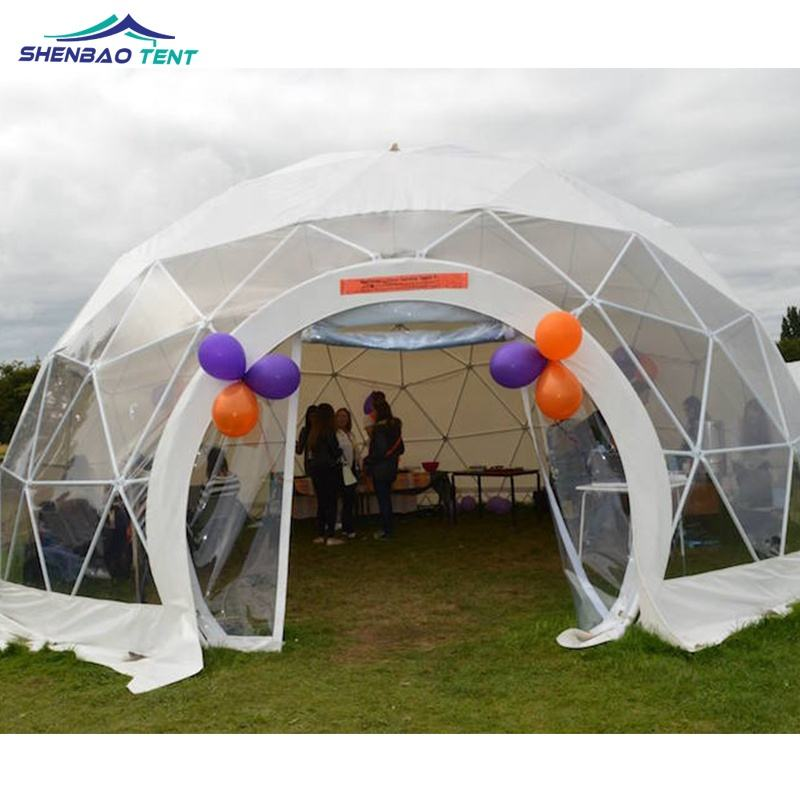 10m Diameter Luxury Wedding Geodesic Dome Party Tent For Outdoor