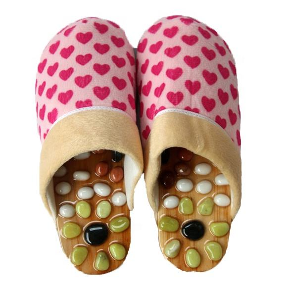 Lovely indoor acupuncture massage slipper for winter from Guangdong China