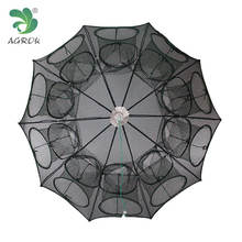 Customized 20 Holes Shrimp Trap Umbrella Aquaulture Trap Fishing Cage