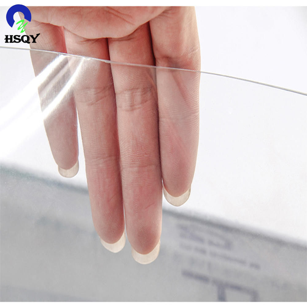 Transparent &Clear in Blue Tint Color PVC Film /Crystal Clear PVC Flexible Film/Soft Film