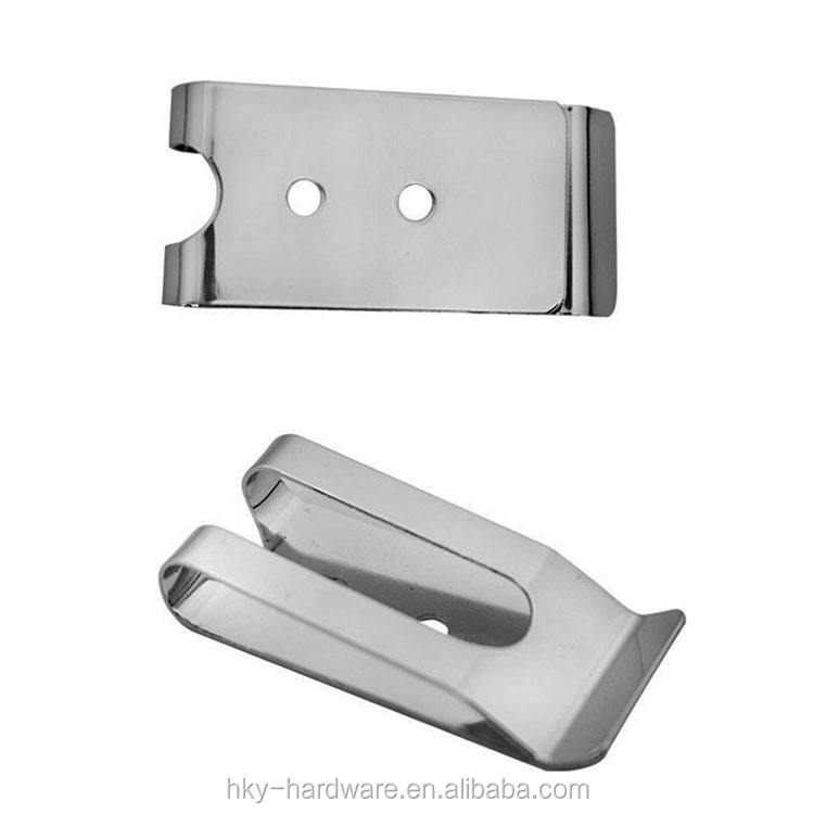 Metal Steel spring holster belt clip with hole