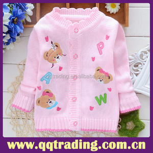 Cotton handmade new designer OEM high quality knit fancy female sweater