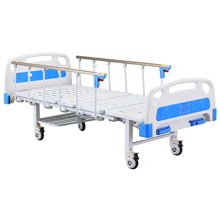 Manual hospital patient bed for medical use
