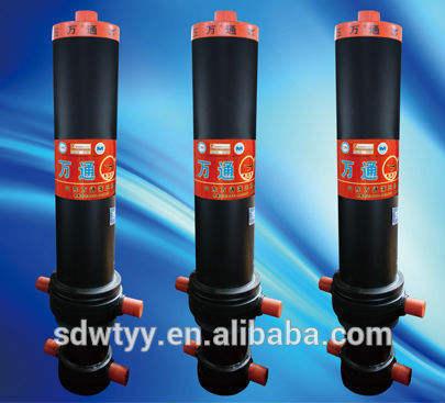 simples efeito do cilindro hidráulico para caminhões basculantes