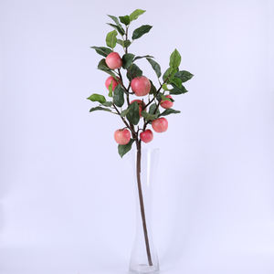indoor decoration artificial apple tree fruits stem single branch