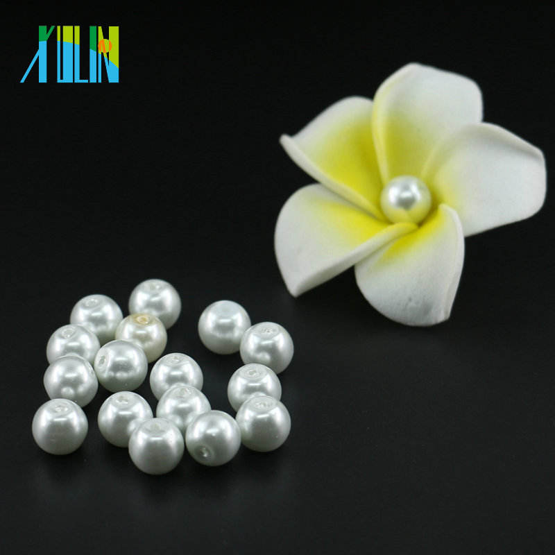 XULIN Wholesale Hottest Sale 3mm to 16mm UA01 XULIN Pure White color Round Glass Pearl Beads