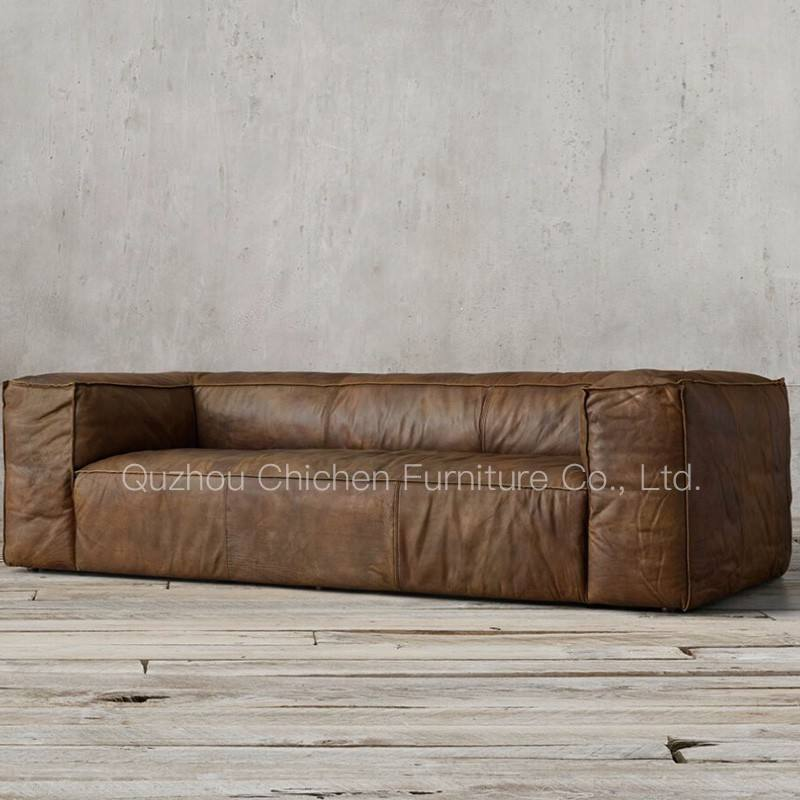 dubai high quality genuine leather sectional chesterfield sofa for hotel use