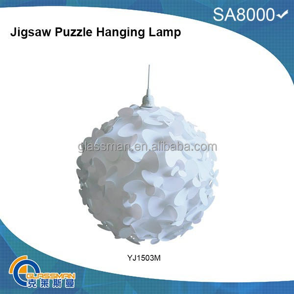 Colorful hanging party IQ jigsaw puzzle lamp