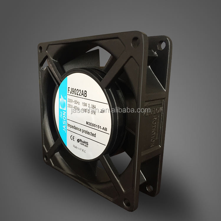Industrial Machine AC Cooling Axial Fans 230V 90X90X25mm