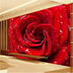 3D hd picture wallpaper Red Rose Background Large Printable Wall Murals For Living Room TV