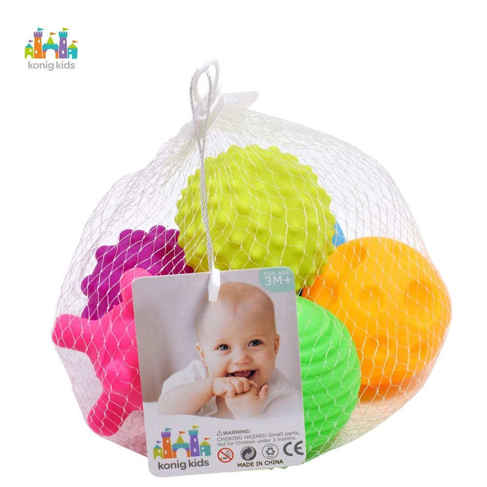 Baby Sensory Toys Set Colorful Tactile Senses Baby Textured Balls