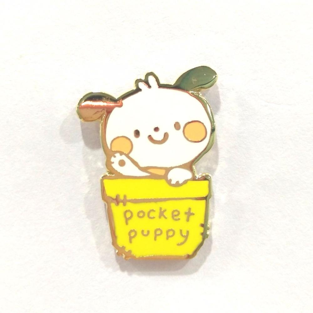 Custom Kawaii Hard Enamel Lapel Pins Of Cute Puppy Enamel Pin For Children's Study