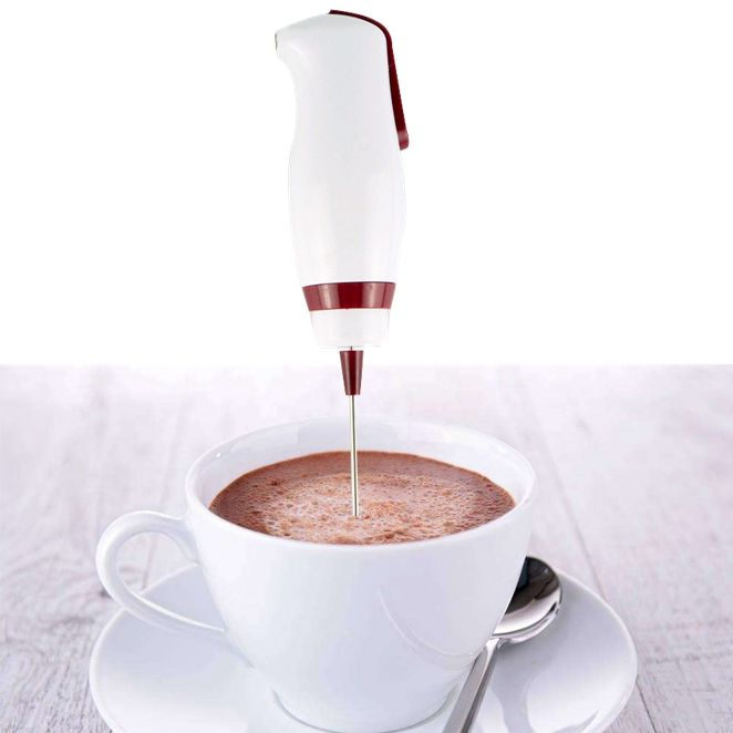 Stainless steel handheld stirrer egg beater coffee milk shake mini electric hand mixer