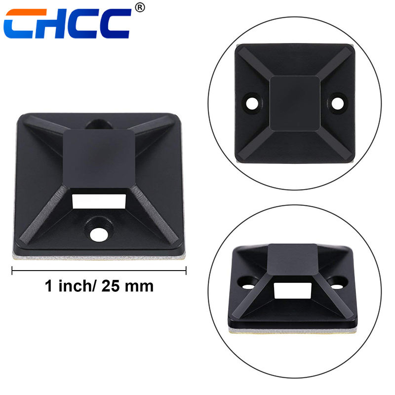 30mmx30mm Mounting Nylon Cable Tie Mounts
