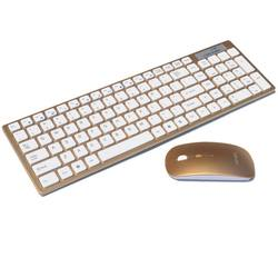 Mini Golden Pink Laptop Keyboard, Portable wireless Keyboard And Mouse combo For Computer