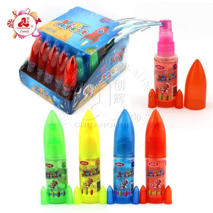 2019 new packing Rocket shape Spray Candy