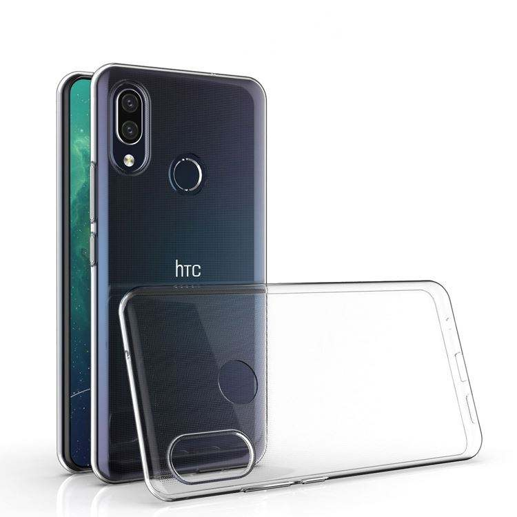 For HTC U19E Case Clear Transparent Ultra Thin TPU Back Cover Phone Cases