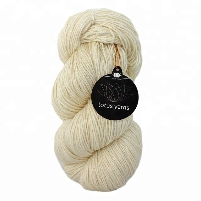100%Superwash Extrafine Merino Wool Yarn in Natural White Color For Hand Dye DK/Worsted Weight