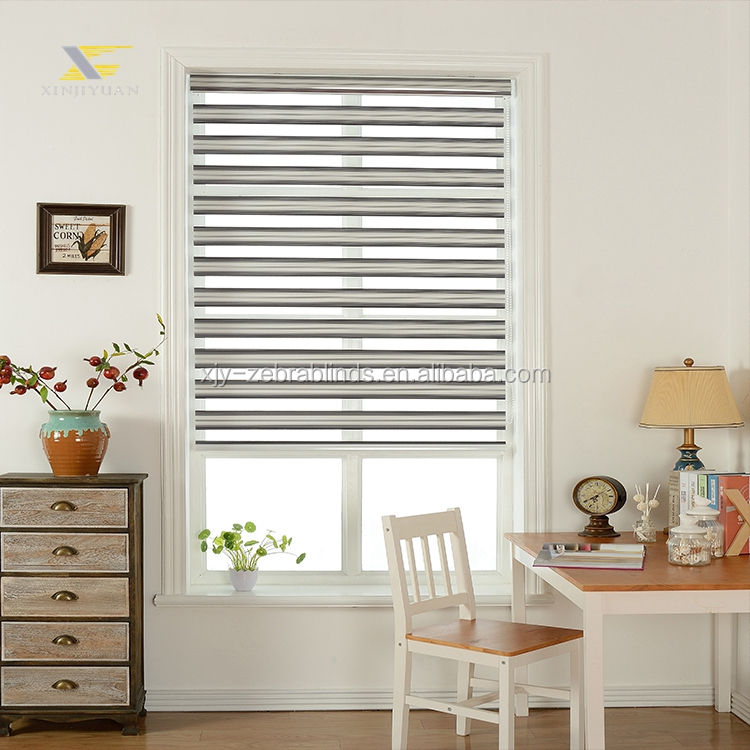 Xinjiyuan 2020 manual roman zebra persianas blackout persianas shades