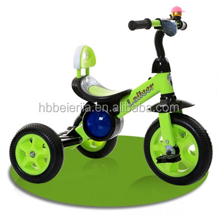 Factory price children tricycle rubber wheels, small metal child tricycle for kids