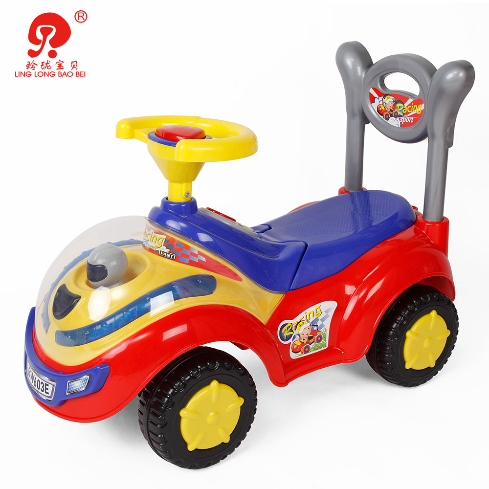 Ride [ Girl Toy Car For ] Car Toy Car For Girl Children Fun Activity Play 4 Big Wheels Baby Girl Ride On Plastic Toy Car For Kids