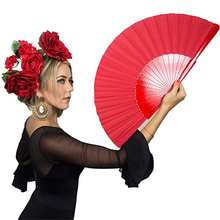 Red Pericon Spanish Handmade Hand Fan Wood for Flamenco Dance Abanico Abanicos